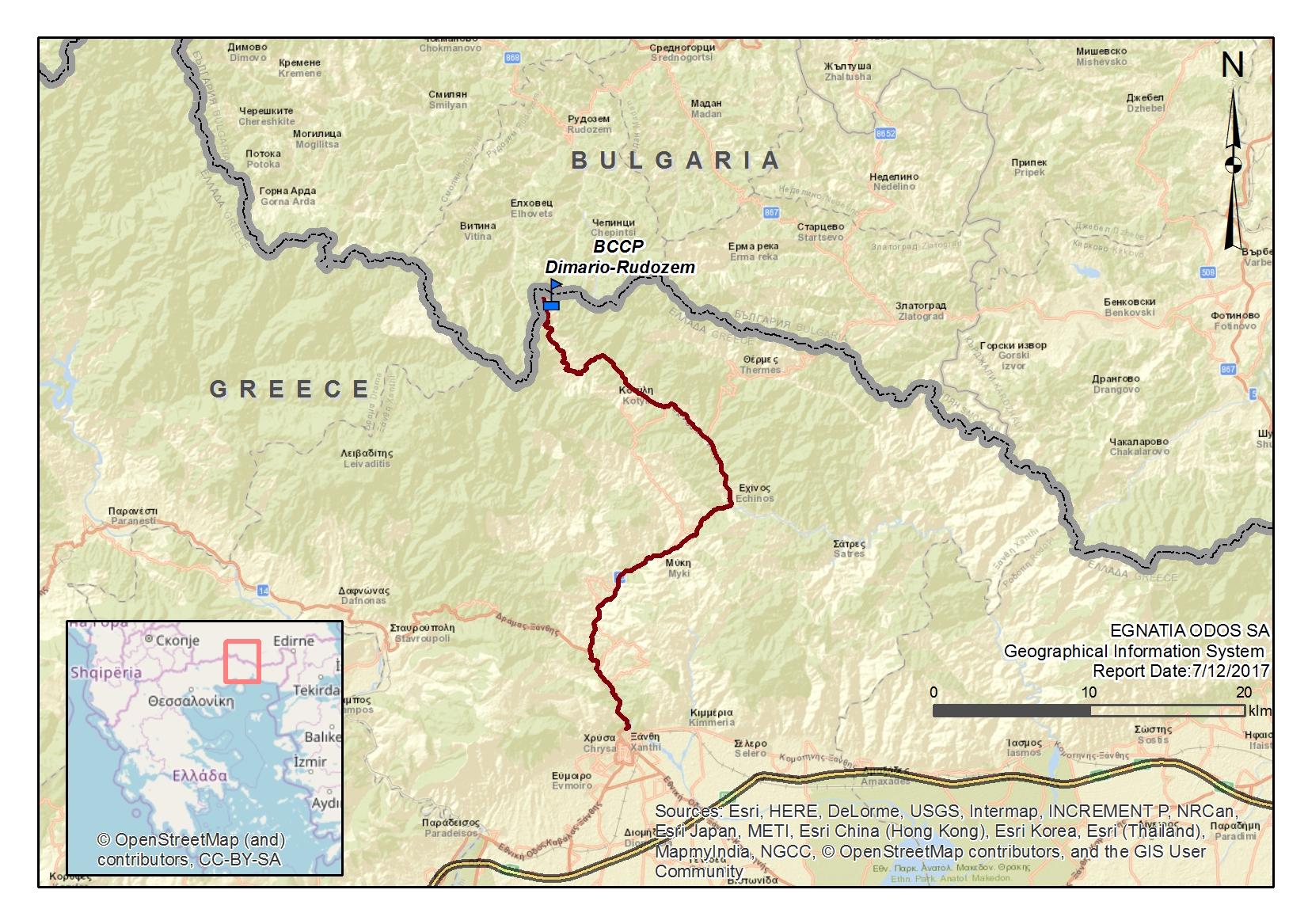 Ο Κάθετος 'Αξονας Ξάνθη-Εχίνος-Ελληνο-Βουλγαρικά Σύνορα